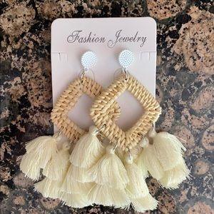 Rattan lightweight Woven Bohemian Dangle Earrings
